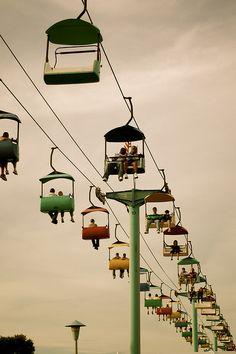 Minnesota State Fair skyride by smcgee, via Flickr #splendidsummer Makes me miss home <3
