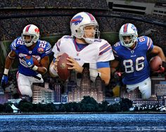 Fred Jackson, Ryan Fitzpatrick and David Nelson of the Buffalo Bills-Love Fred Jackson!!