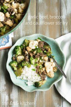 Garlic Beef, Broccoli & Cauliflower Stir Fry