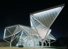Glass Pavilon  by Moneo Brock Studio #modern #triangular #architecture #arq #geometric #modular