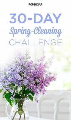 ~30-Day Spring-Cleaning Challenge For April! Comes with a PDF printable checklist~