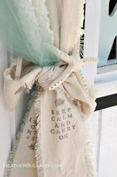 Beach House Starfish Curtain Tiebacks | La Beℓℓe ℳystère
