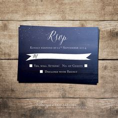 Starry Night Invitation Suite RSVP