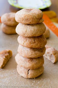 Soft & Thick Snickerdoodles in 20 minutes. One bite and you'll never made another Snickerdoodle cookie again!