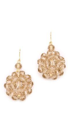 Adia Kibur Beaded Cluster Earrings