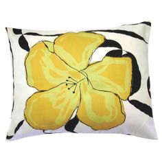 Have to have it. Yellow Hibiscus Flower Pillow $44.99