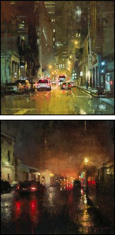 Cityscapes: Paintings by Jeremy Mann - www.Art-Competition.Net
