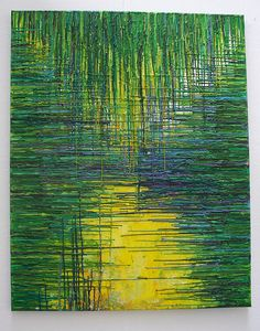 crayon art - by far, this is the most awesome crayon art I've seen yet! Kind of looks like what Monet would have done if he had done crayon art...