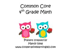 Common Core Posters-4th Grade Math