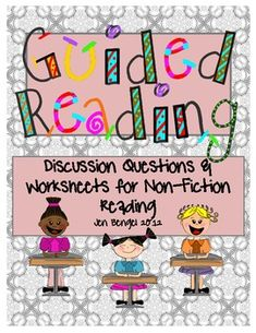 36 open-ended guided reading questions for non-fiction text plus 6 printable pages for students to respond to reading...great comprehension assessment tool!