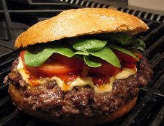 Grilled hamburgers recipe