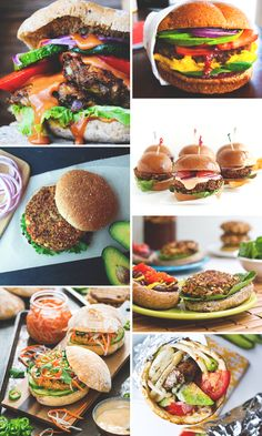7 Vegan Burgers For Your Memorial Day Cookout || via Jade and Fern