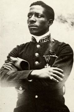 Eugene Jacques Bullard Born in Columbus, Georgia, in 1894, stowed away to Europe as a teenager, earning money as a prizefighter and interpreter. When World War I erupted he joined the French army and ultimately became the world's first black fighter pilot. He later married the daughter of a French countess, opened a nightclub in Paris and hobnobbed with the likes of Josephine Baker, Louis Armstrong and Ernest Hemingway.