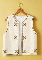 Vintage Space Needlepoint Vest | Mod Retro Vintage Vintage Clothes | ModCloth.com