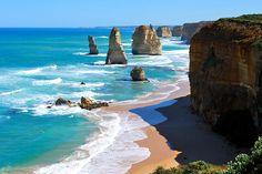 twelv apostl, blue, australia travel, national parks, places, beach, rocks, the great, roads