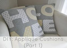 DIY: Applique Cushions (Part 1)