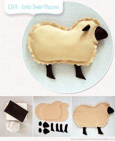DIY: How to Make Little Lamb Pillows