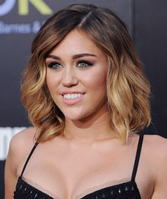 Ombre hair color on short hair