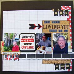 "Article about using the visual triangle in design. ""Loving You"" scrapbook layout by Erika Hayes. #scrapbook #scrapbooking #creatingkeepsakes"