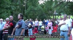 MARINE STUNS A TEA PARTY WITH THE FOURTH VERSE OF THE STAR SPANGLED BANNER