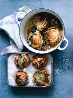 roast cabbag, charcoal, cabbage recipes, vinegar roast, saltroast onion