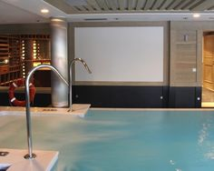 Modern Basement with Wine Cellar & Pool
