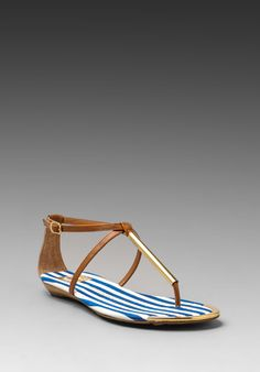 DV by DOLCE VITA Archer Sandal in Blue Stripe at Revolve Clothing - Free Shipping!