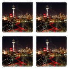 Abstract Seattle Artwork Cities Scenery Square Coaster (4 Piece) Set Fabric Rubber 5 1/8 Inch (130mm) Size Coaster Cup Mug Can Water Bottle Drink Coasters Stain Resistance Collector Kit Kitchen Table Top Desk MSD Square Coaster,http://www.amazon.com/dp/B00J2ILRXU/ref=cm_sw_r_pi_dp_m7Eutb1VH1SATB4D