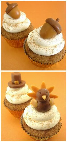 Easy Thanksgiving Cupcake Toppers