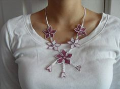 Discount - TRADITIONAL TURKISH OYA NECKLACE AND EARRINGS...