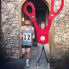 "Unique ""Running with Scissors"" Couple Halloween Costume...Clever!"