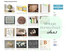 vintage homeschool room ideas
