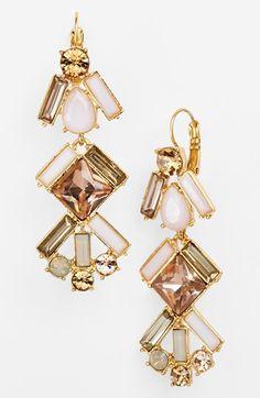 Gorgeous! #katespade linear chandeli, accessori, chandeliers, chandelier earrings, jewelri, art deco, chandeli earring, kate spade, fashion katespad