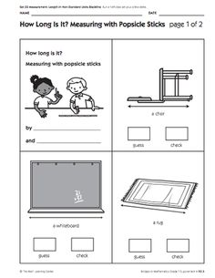 Here's a set of supplemental lessons on nonstandard measurement of length from the Math Learning Center (Bridges Curriculum).
