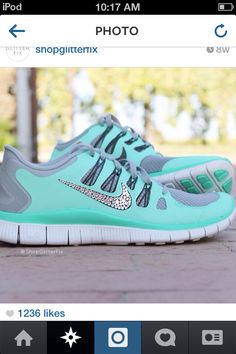 Teal shoes Nike