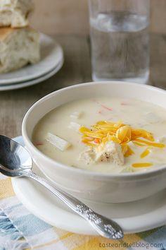 Cheesy Chicken Chowder   Taste and Tell