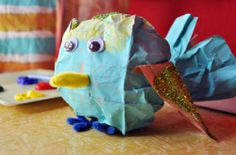 birdies made out of paper bags