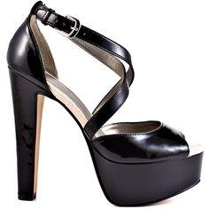 Tanvir heels Black Patent Pu brand heels Michael Antonio