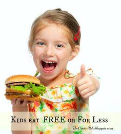 Kids Eat #FREE #Discounts