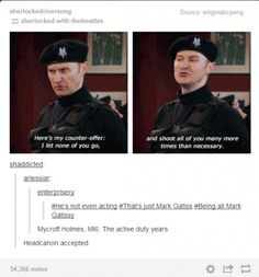 Actually in His Last Vow, Mycroft is listed as a previous MI6 agent---*unsurprised sigh*