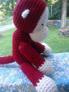 Crochet Monkey - The Bean Patch animals, crochet dolls, toy, birthdays, ray ban sunglasses, curious george, crochet patterns, monkey, amigurumi patterns