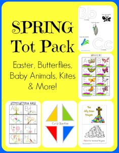 Spring Fun Tot Pack  {Easter, butterflies, baby animals, kites and more!}