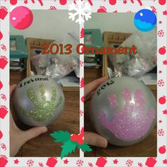 Kid Christmas ornament project
