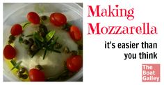 Making mozzerlla is delicious and fun to do!