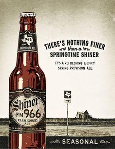 Shiner FM 966 Farmhouse Ale poster, farmhous ale