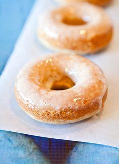 Eggnog Vanilla Donuts with Eggnog Rum Glaze