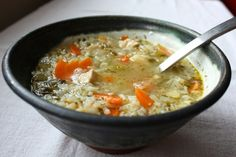chicken soup - perfect for roast chicken leftovers
