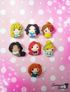 Disney Princess, Kawaii Dust Plugs Cellphone Charms, Kawaii Polymer Clay Charms, Brave Merida, Little Mermaid Ariel