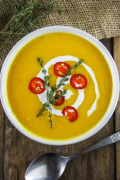 Pumpkin, Chili and Coconut Soup