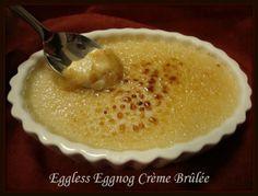 Eggless Eggnog Pot de Crème and Crème Brûlée vegan & gluten free dessert